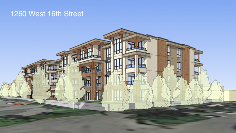 Render of proposed development at 1210 West 16th St