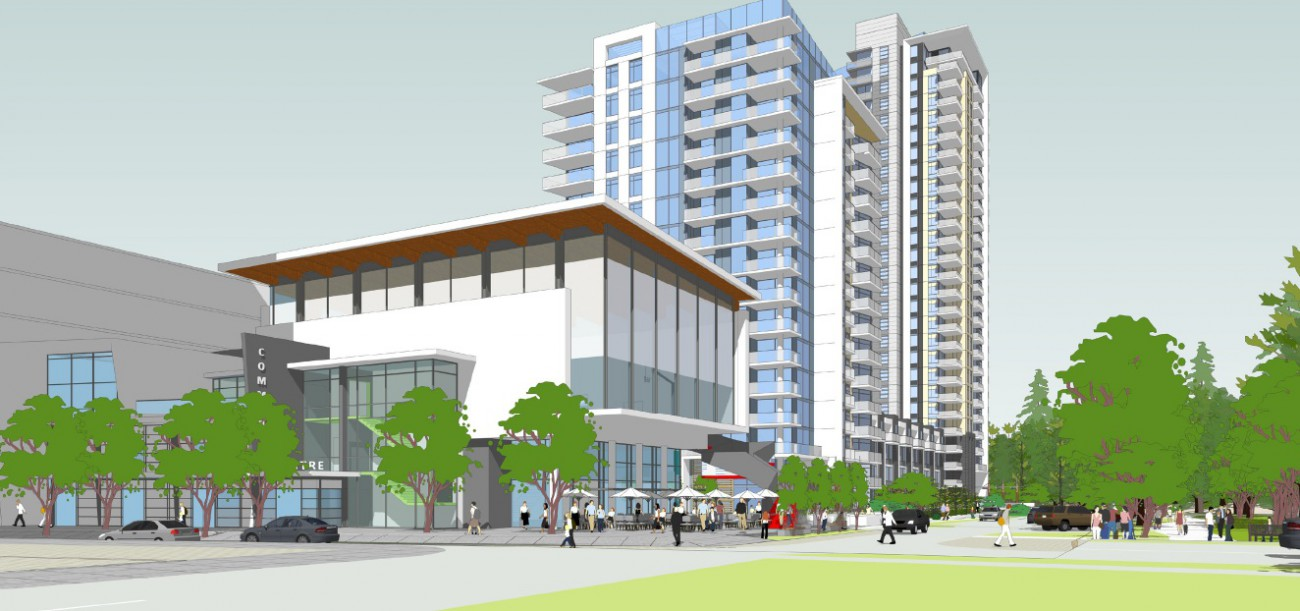 Rendering of proposed development at 1401 Hunter St