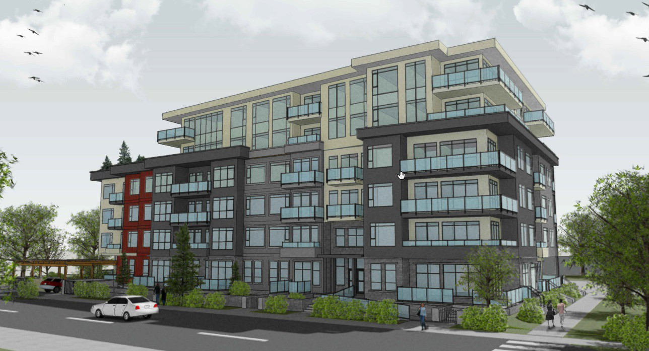 Rendering of proposed redevelopment at 1547 crown st