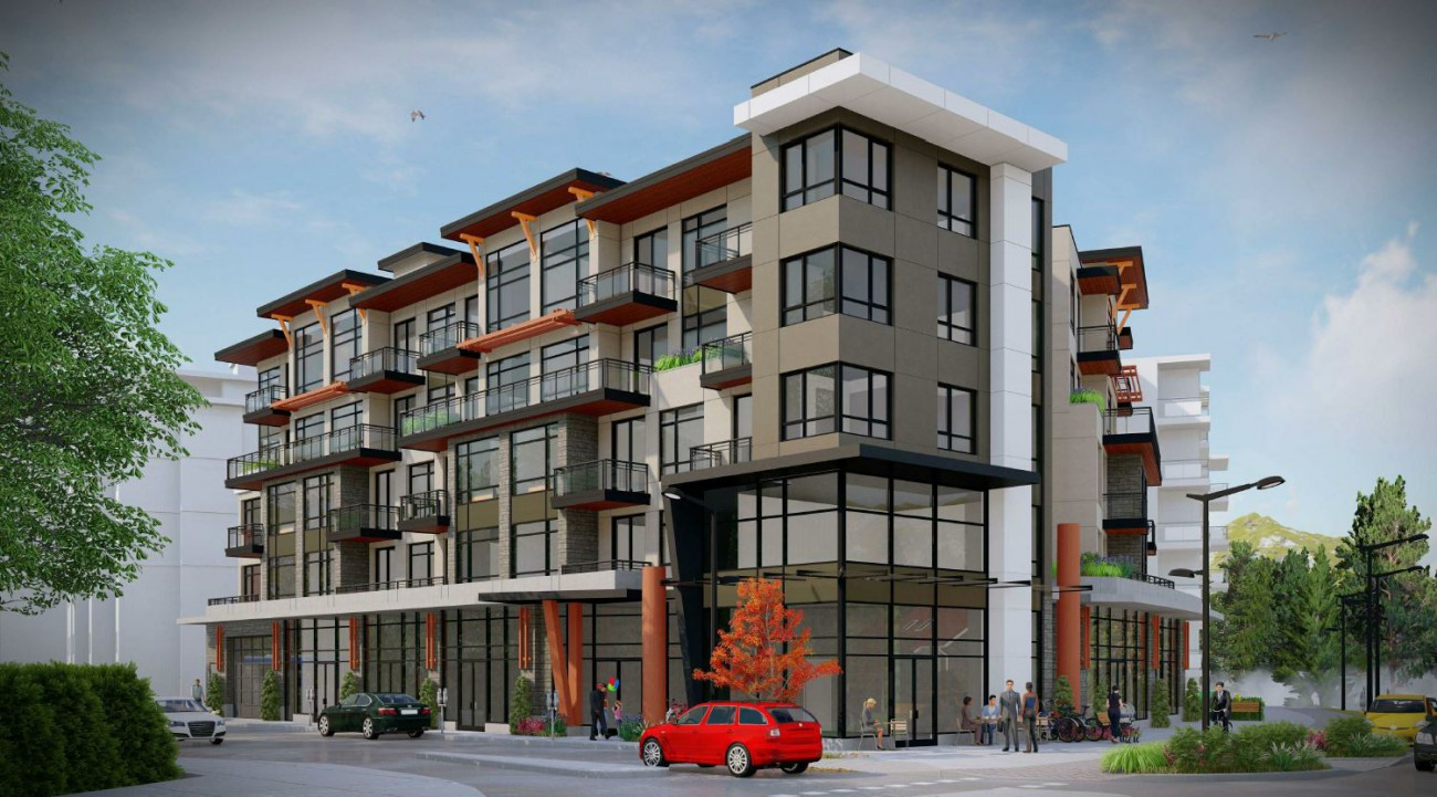 Rendering of proposed redevelopment at 2045-2075 Old Dollarton