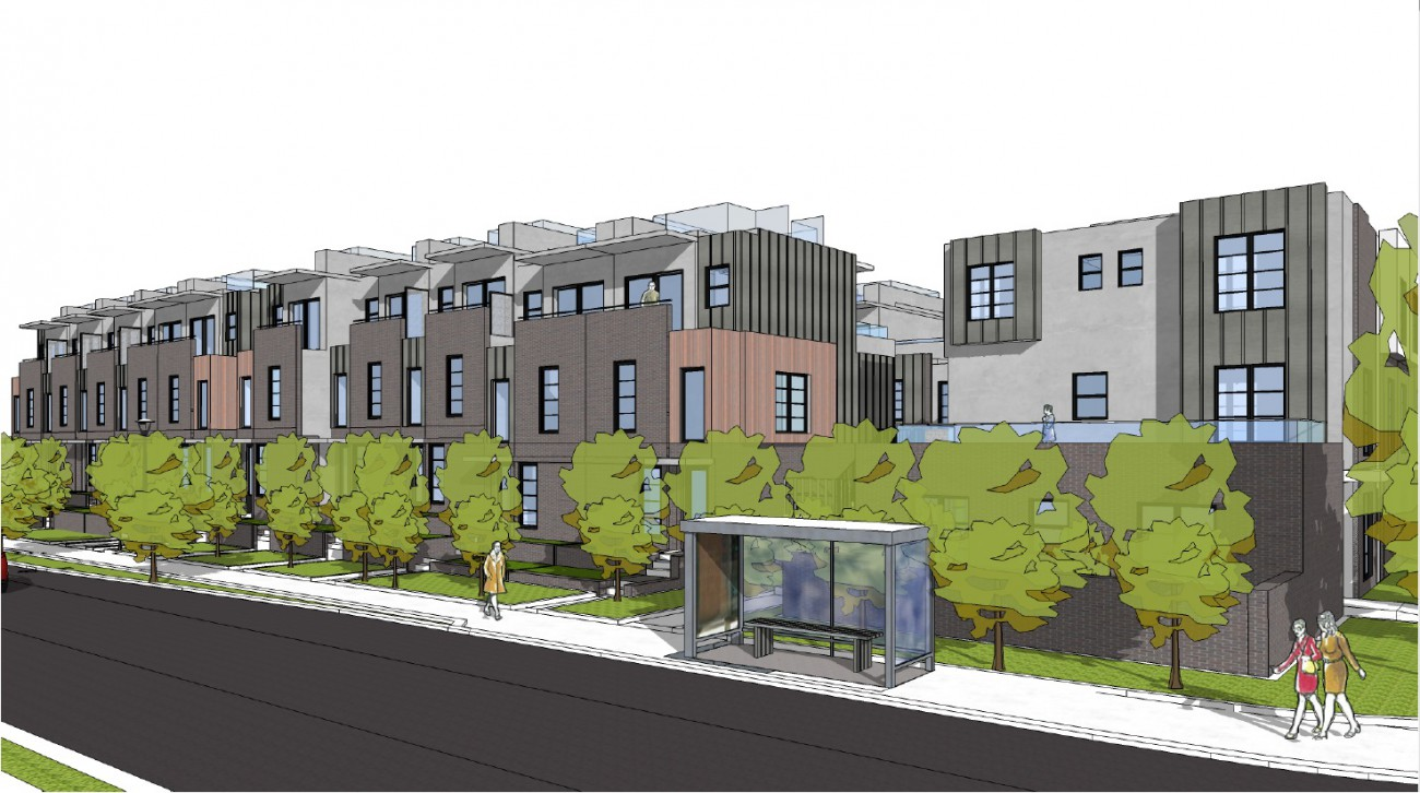Render or proposed development at 3468 Mt Seymour Parkway