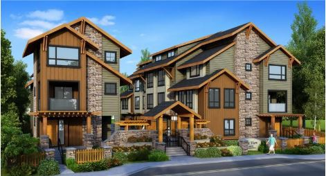 Rendering of a development at 3568 and 3572 Mount Seymour Parkway