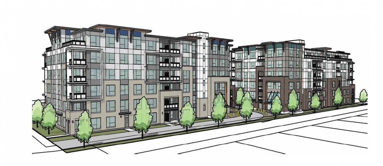 Rendering of proposed development at 405-485 Marie Place