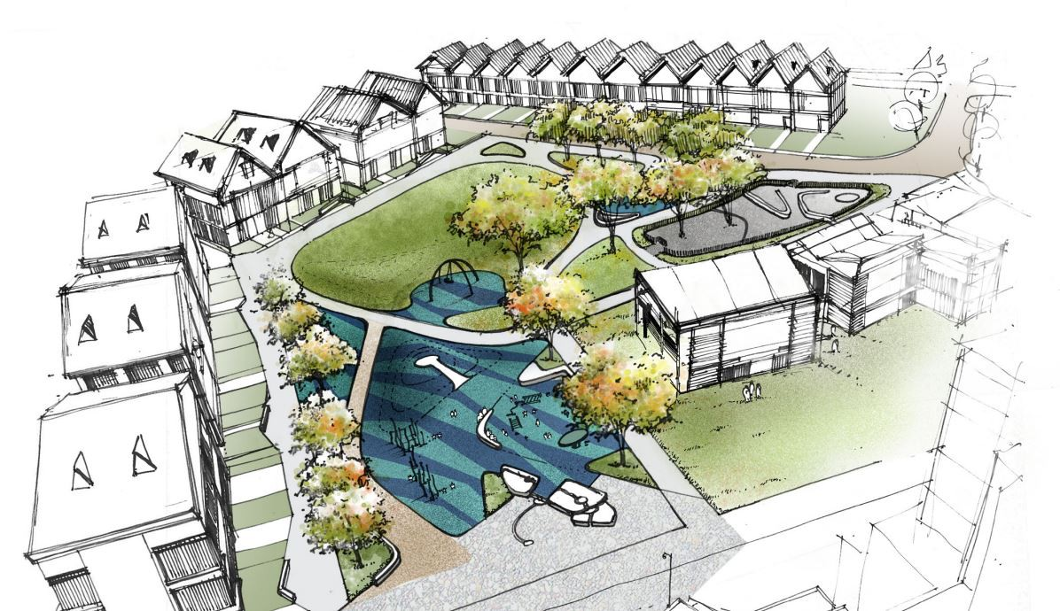 Rendering of the preferred concept for Belle Isle Park