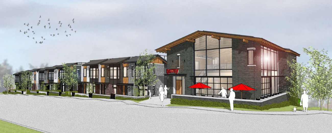 Render of new development proposed for 1012-1060 Deep Cove Rd