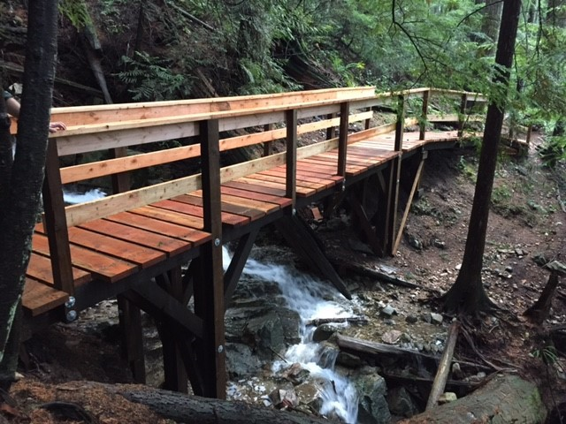 Photo of the retrofitted bridge across Mission Creek on Mount Fromme
