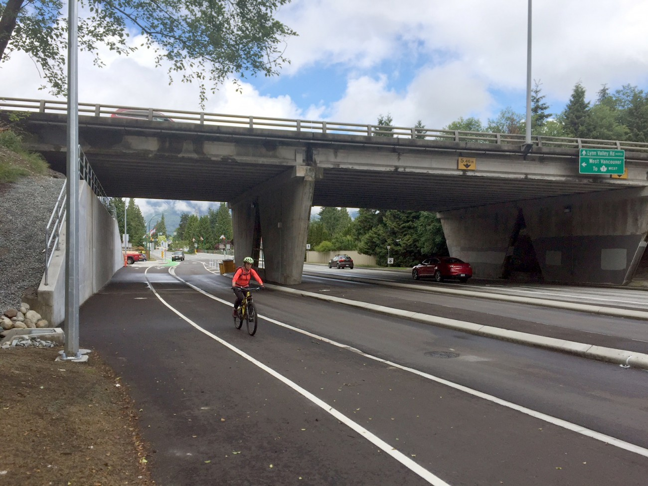 Completed Lynn Valley Rd underpass at Hwy 1