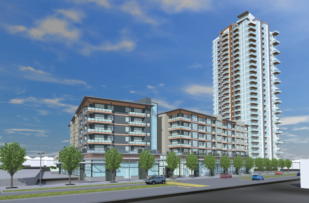 Rendering of proposed development in Lynn Creek Town Centre