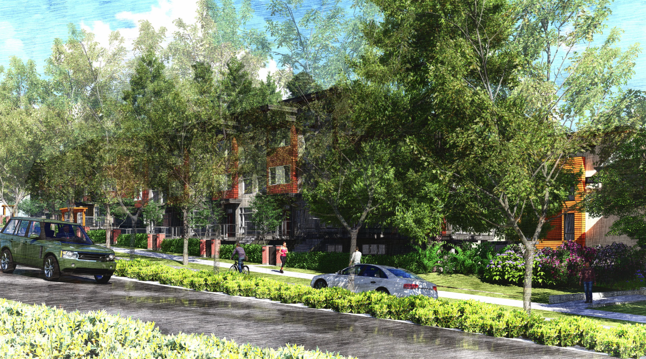 Rendering of proposed redevelopment of Seymour Estates