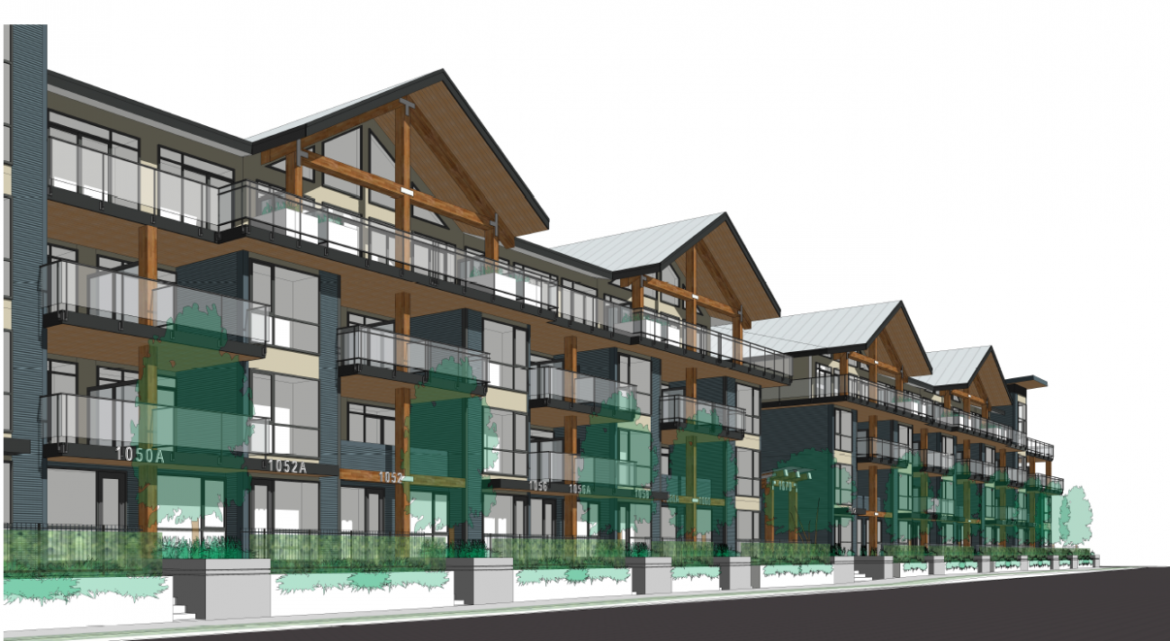 Artist rendering of a new residential development at 1616 Lloyd Ave