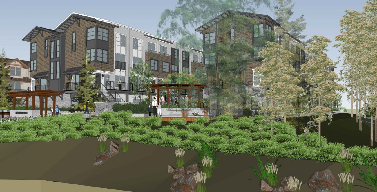 Artist rendering of a new residential development at 2049 Heritage Lane