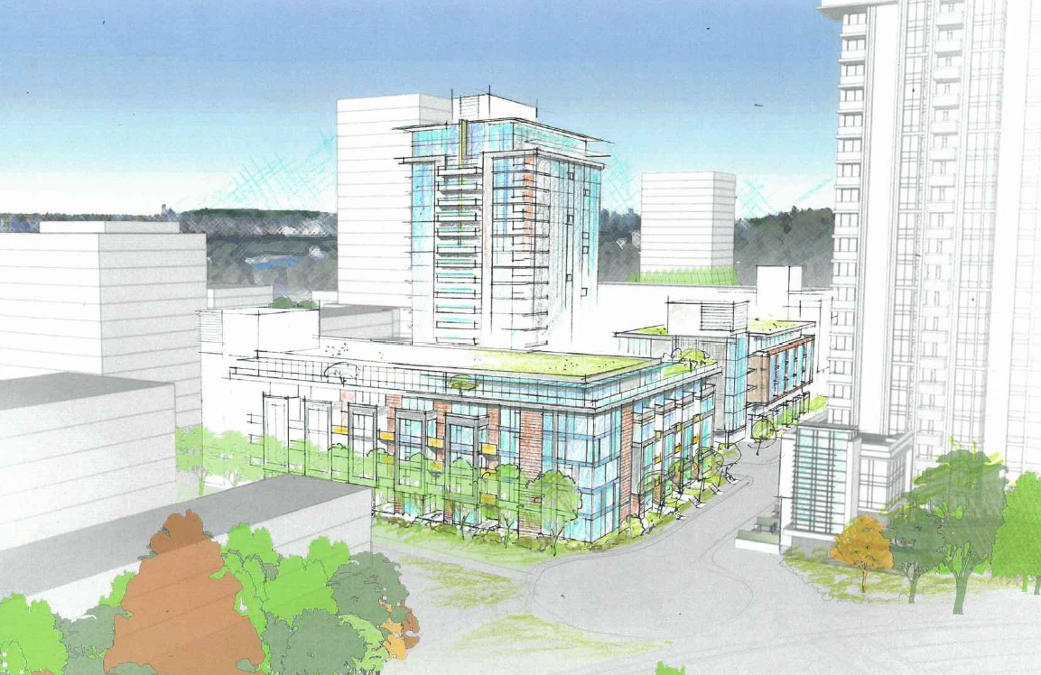 Rendering of a proposed development in Lynn Creek Village