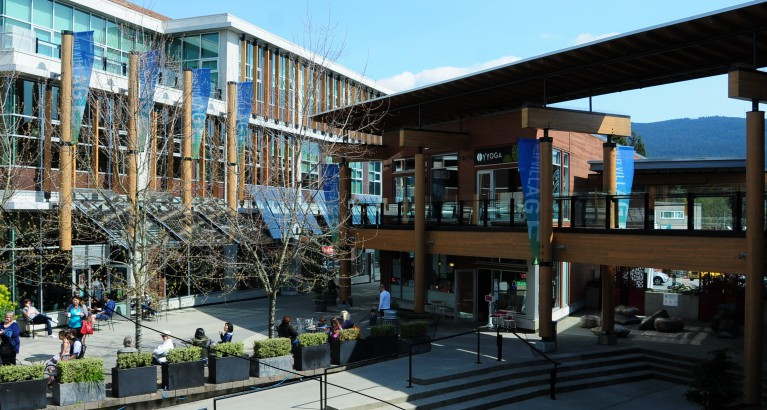 Lynn Valley library from the public plaza