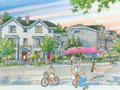 Artist rendering of a new townhouse development at 1103 Ridgewood Drive