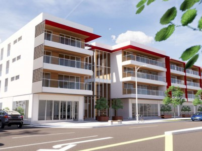 Render of proposed development at 1235 Marine Drive