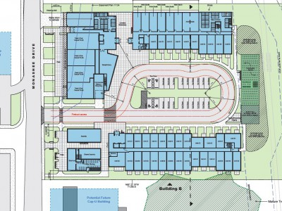 Site plan for proposed development at 1310 Monashee Drive
