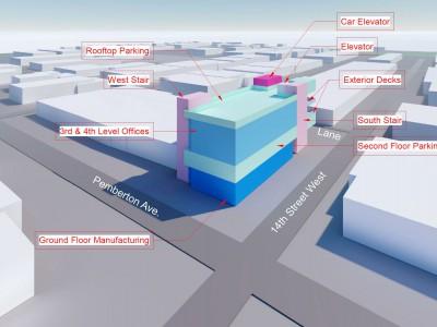 Rendering of proposed development at 1406 Pemberton Ave