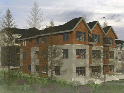 Render for new development proposed at 1920 and 1932 Glenaire Dr