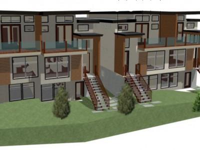 Rendering of development on Sandown Place