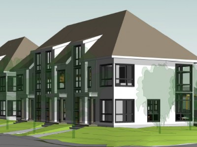Rendering of proposed townhouse development at Brookridge Dr