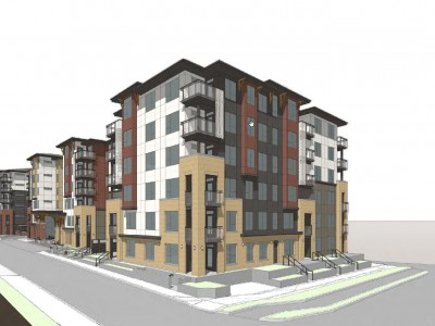 Rendering of proposed redevelopment at 405-485 Marie Place