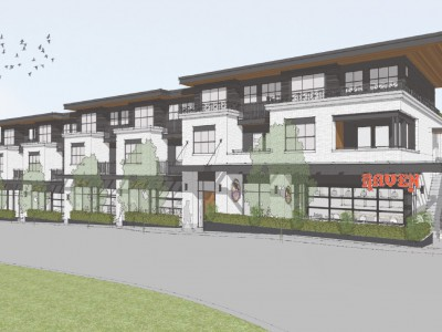 Rendering of proposed development at 1012-1110 Deep Cove Road