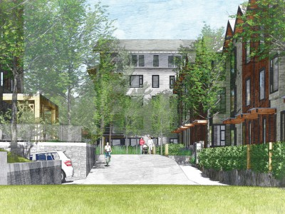 Revised render for proposed development at Emery Place
