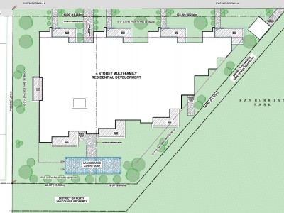 Site plan for proposed development at 1149 and 1155 Lynn Valley Road