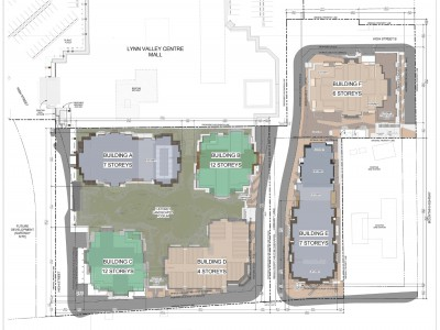 Site plan for a new development proposed at 1175 Lynn Valley Rd