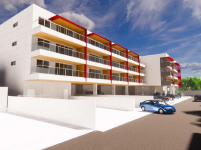 Proposed render of new development at 1235 Marine Drive