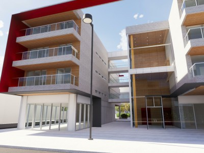 Rendering of proposed development at 1235 Marine Drive