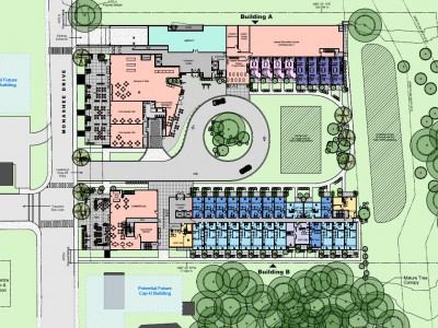 Site plan for proposed development at 1310 Monashee Dr