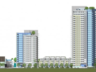 Render of new development proposed for 1401 Hunter Street