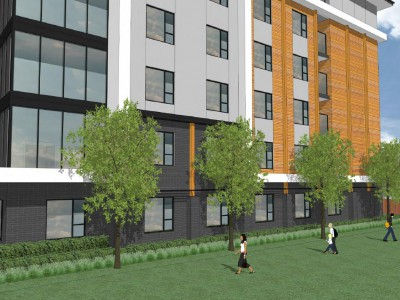 Render of a proposed development at 1502-1546 Oxford St
