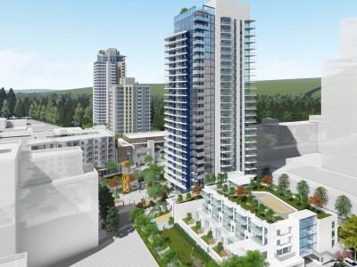Revised render for proposed development in Lynn Creek Village