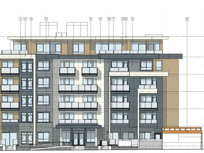 Drawing of proposed development at 1541 Bond St