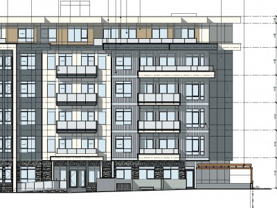 Elevation of proposed development at 1541 Bond Street
