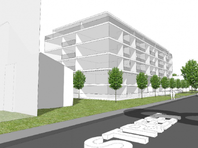 Render of a proposed development at 1574-1590 Hunter Street
