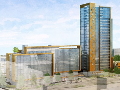Rendering of proposed development at 1634 and 1748 Capilano Road