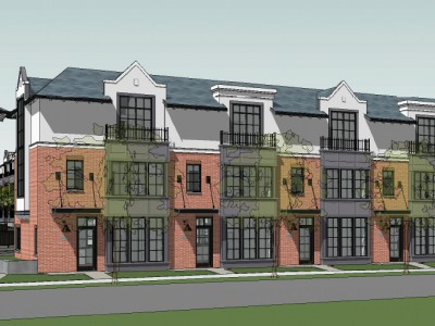 Rendering of a proposed development at 1801 Glenaire Dr