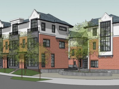 Render of a proposed development at 1801 Glenaire Drive