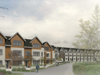 Render of proposed development at 1920 Glenaire Drive