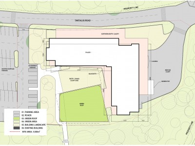 Site plan for proposed development at 2055 Purcell