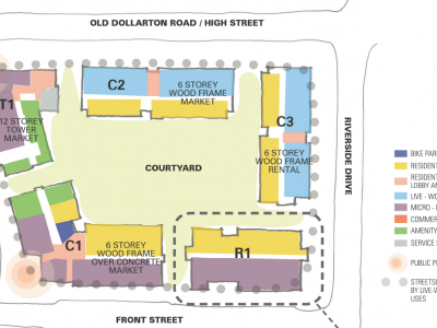 Site plan for proposed development at 2131 Old Dollarton Rd