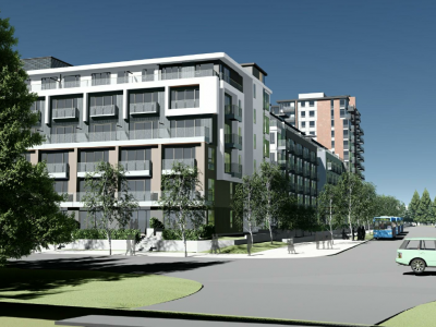 Rendering of proposed redevelopment at 2131 Old Dollarton Rd