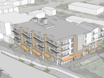 Rendering of proposed development at 2160 Old Dollarton Rd