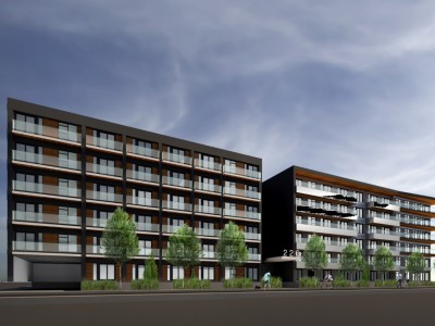 Rendering of proposed development at 220 Mountain Hwy and 1515-1555 Rupert