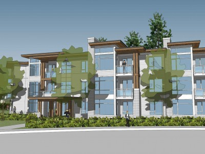 Render of a proposed development at 3105 Crescent View