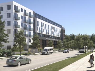 Rendering of proposed development