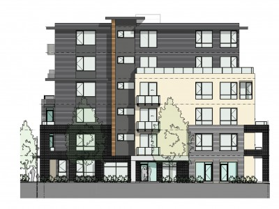 Rendering of proposed development at 328 and 332 Seymour River Pl